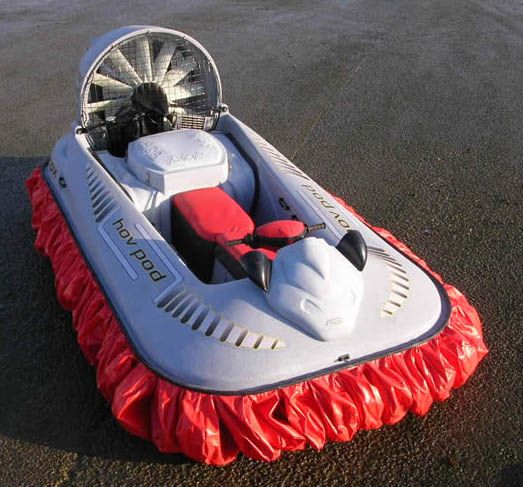 Colored hovercraft model